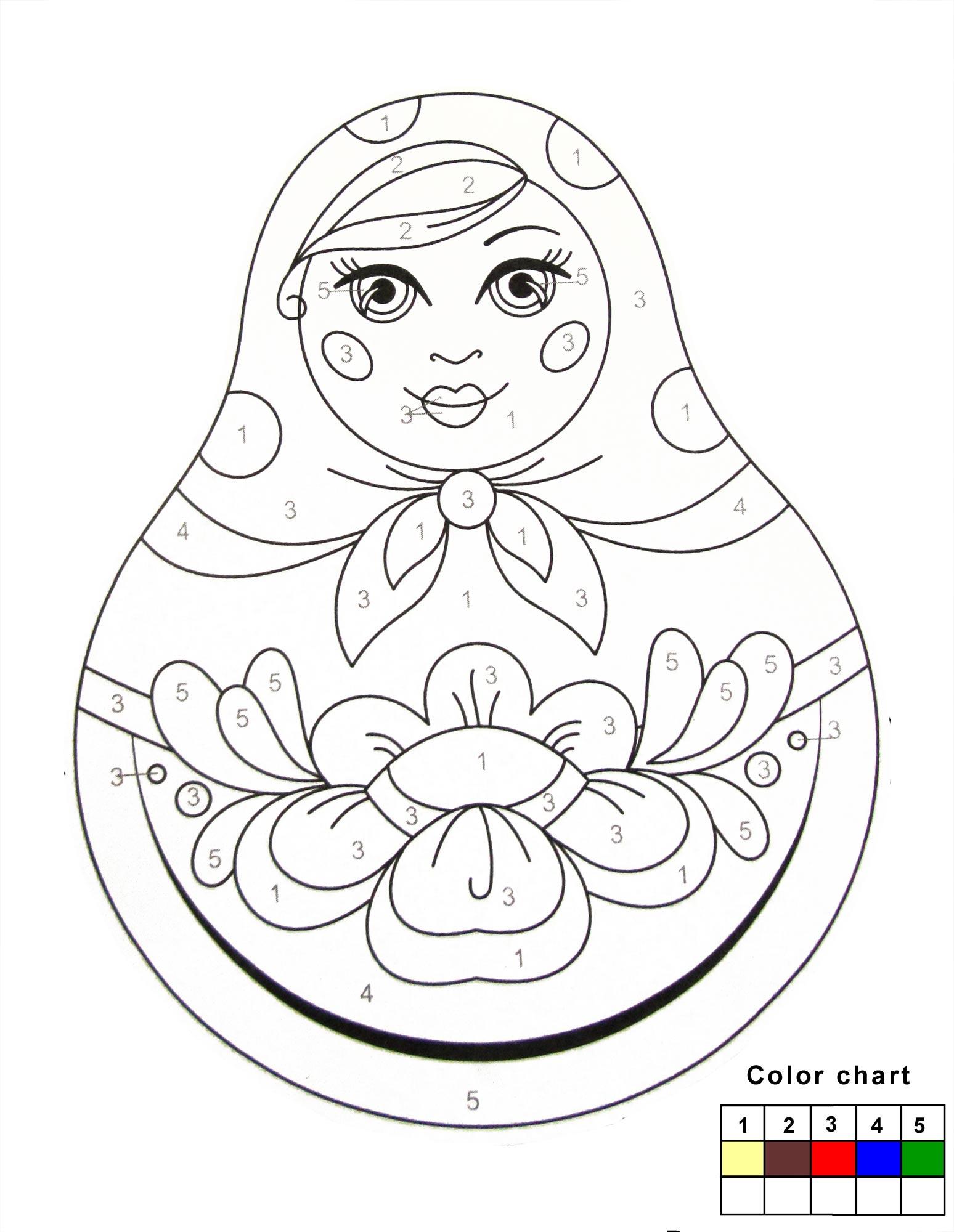 matroyshka dolls coloring pages - photo#25