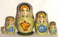 Nesting doll - Russian tea party