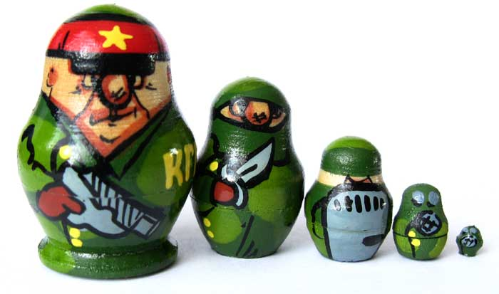 KGB Soldiers Nested Doll