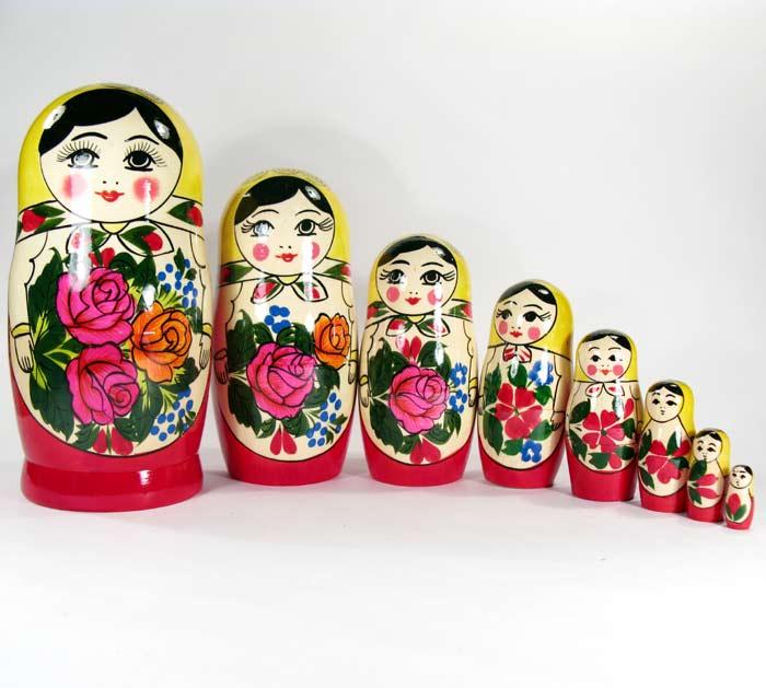 Matryoshka Russian Girl (8 pieces)