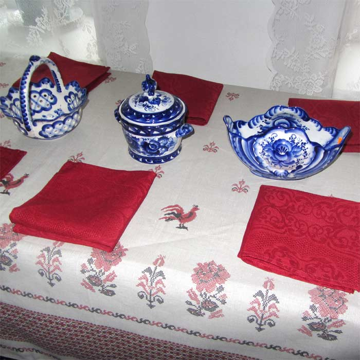 Table Set Roosters