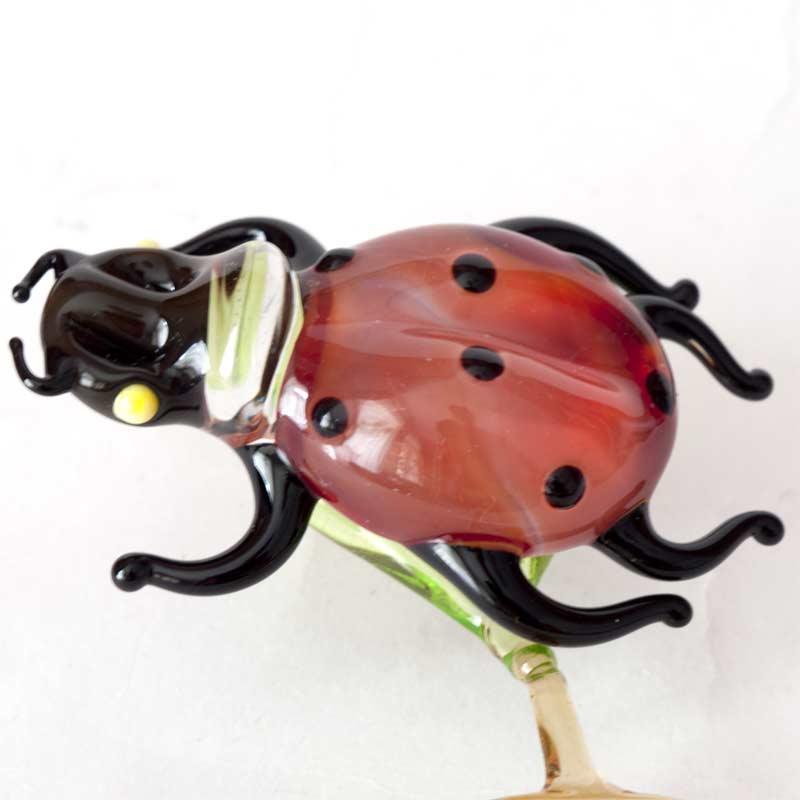 Ladybird glass figurine