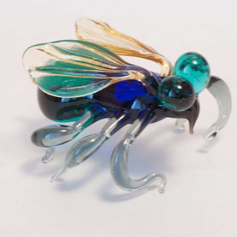 Fly glass figurine