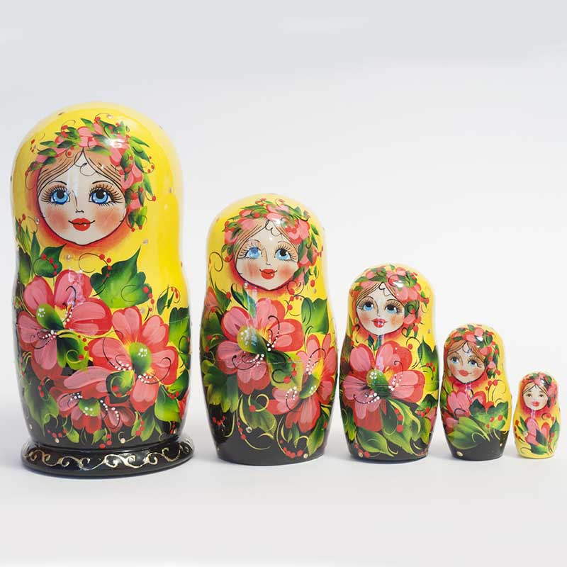 Matryoshka Pink with Poppies