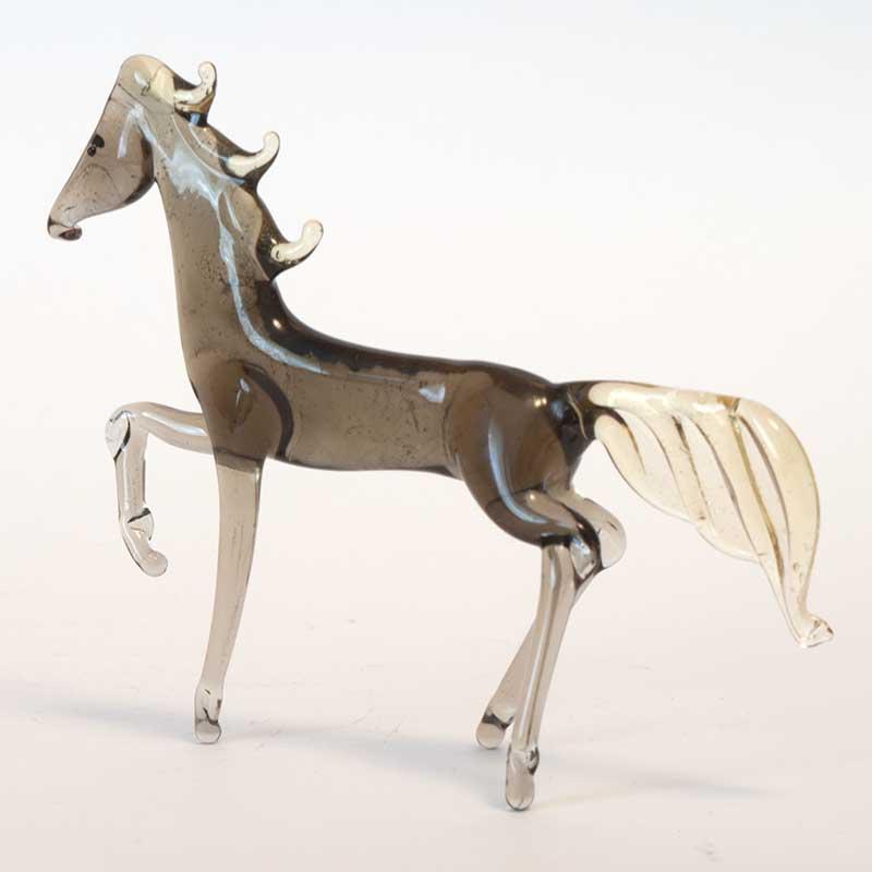 Horse glass figurine
