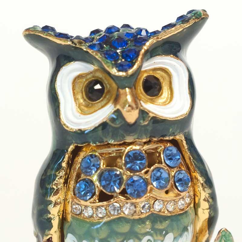 Faberge Jewelry Box Owl