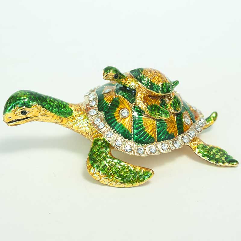 Faberge Box Two Frogs