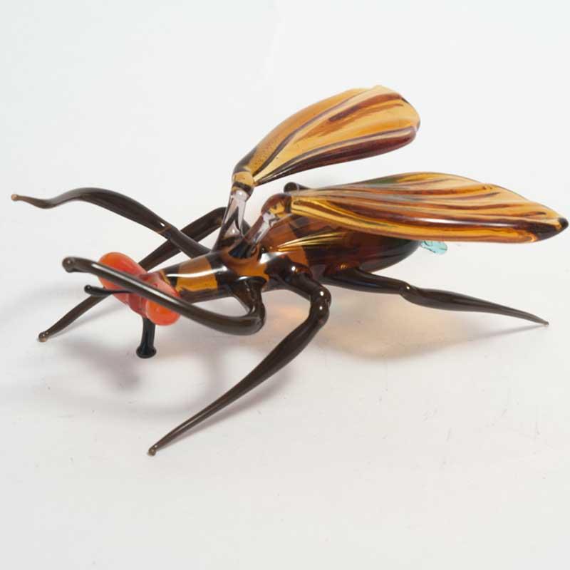 Mosquito glass figurine