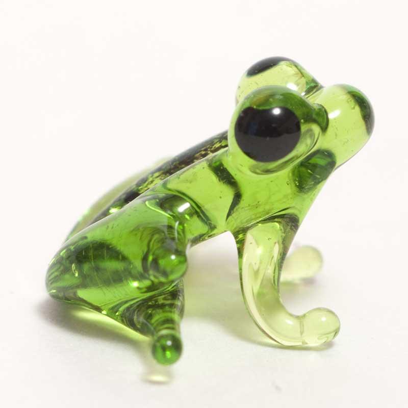 Frog fish glass figurine