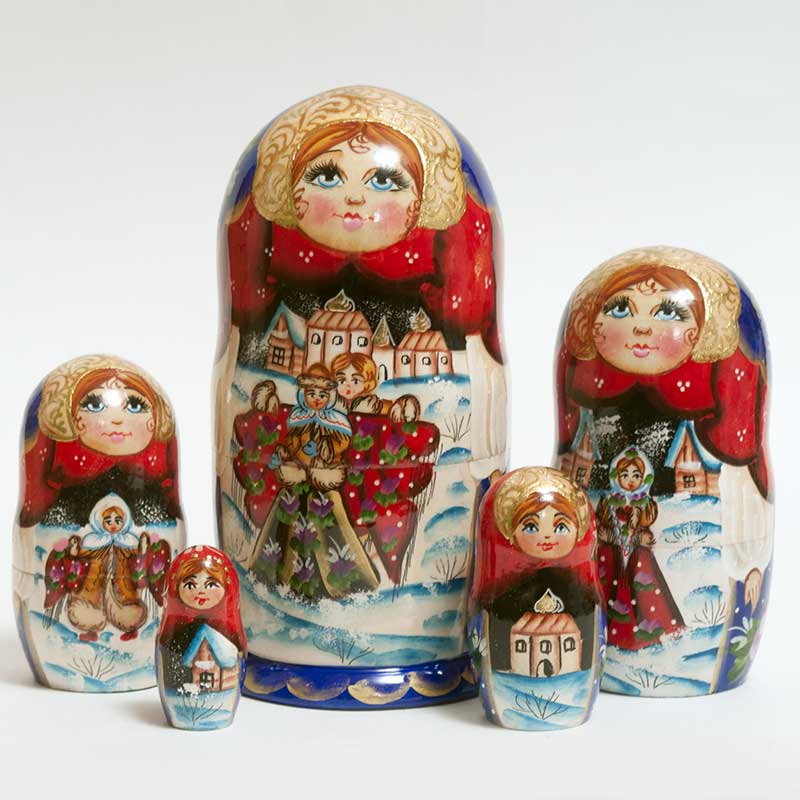 Russian Nesting Doll  Winter Festive Time