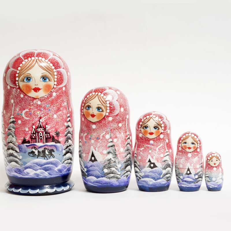 Matryoshka Russian Winter Night