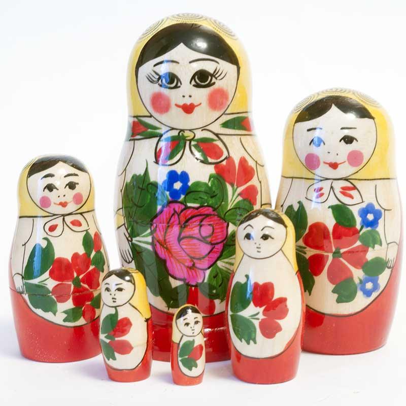 Nesting Doll Russian Girl, 6 p.
