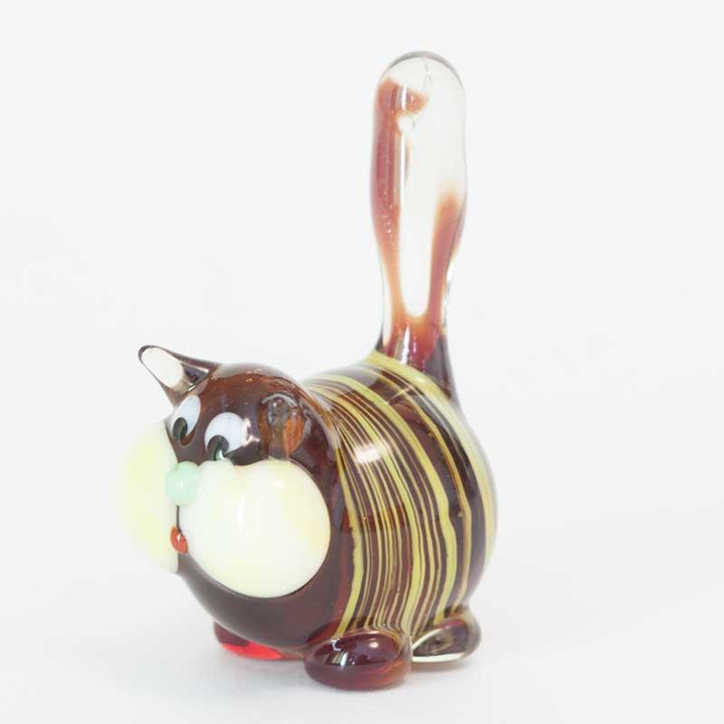 Glass Cat Figurine