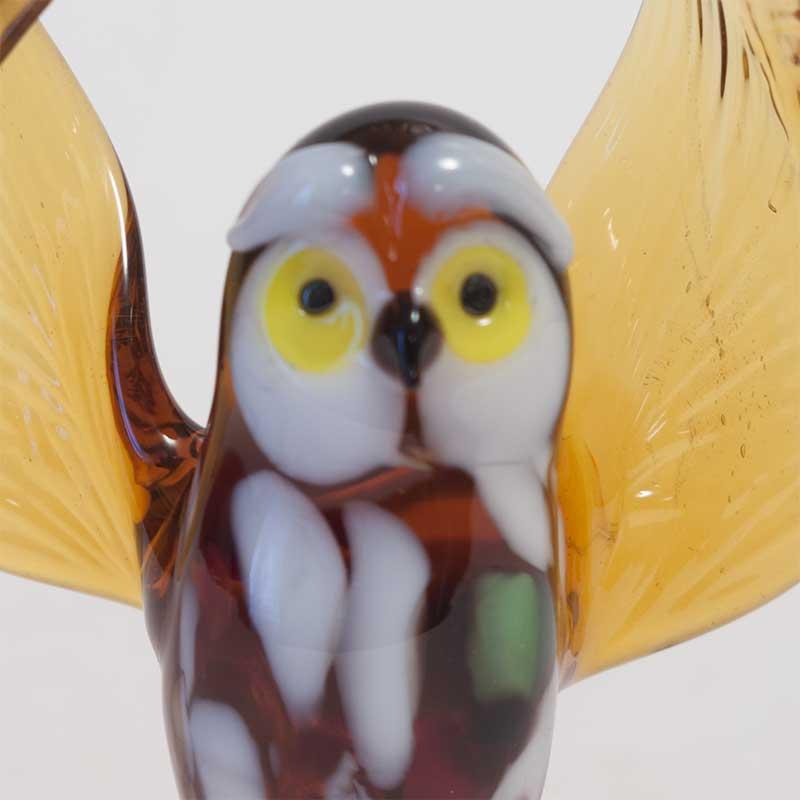 Owl glass figurine