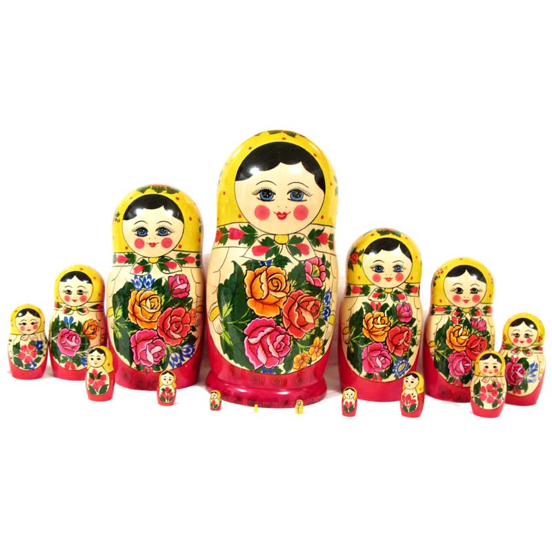 Nested Doll Russian Girl 10 pieces