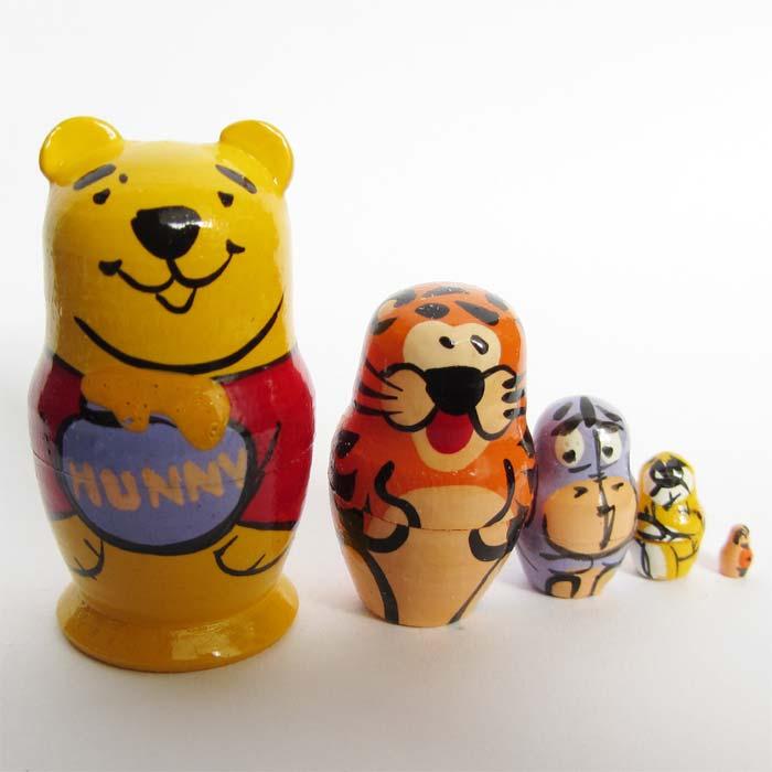 Winnie the Pooh Matryoshka - Russian Disney Matryoshka - Matryoshka ...