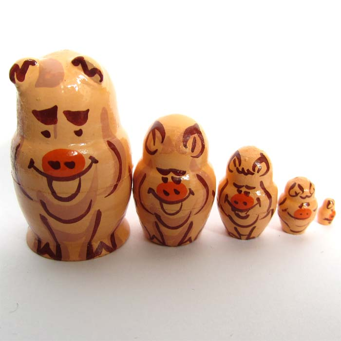 Pigs Stacking Doll