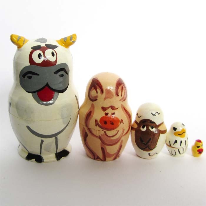 Farm Animals Matryoshka Doll
