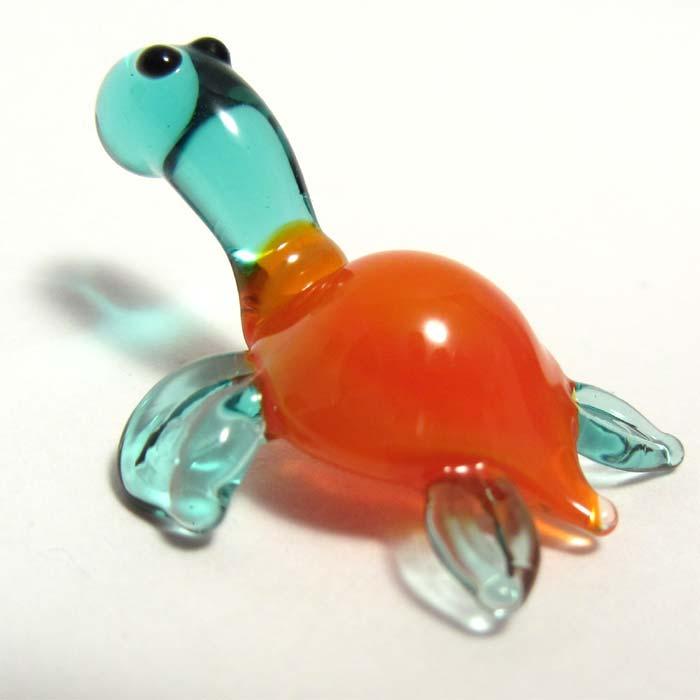 Glass Sea Turtle Blue