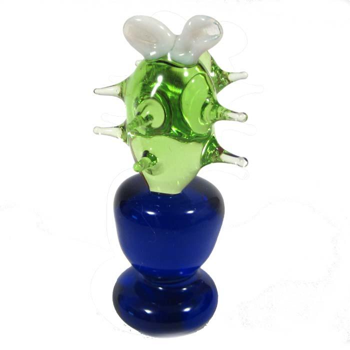 Glass Cactus Figurine