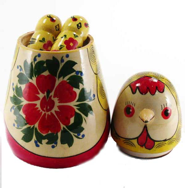 Nesting Doll Hen and Chickens