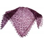 Plum Orenburg shawl