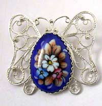 Enamel jewelry - brooch