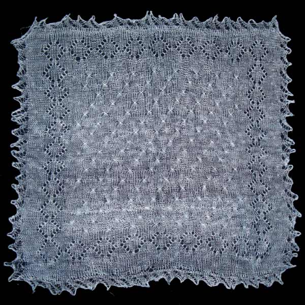 Light blue Orenburg shawl