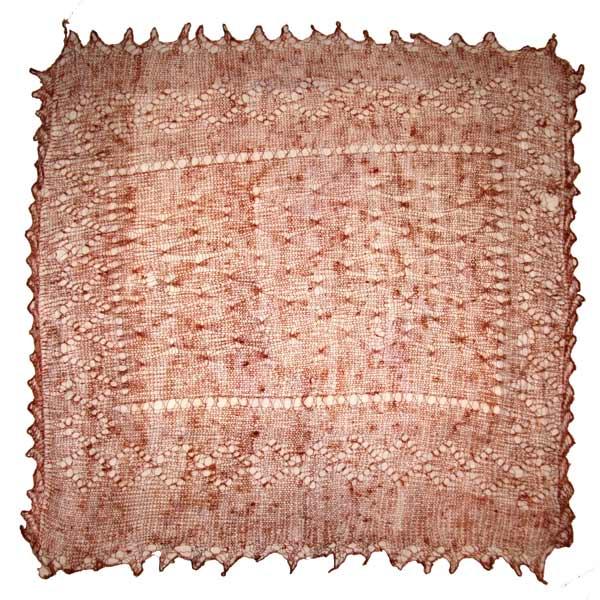 Light brown Orenburg shawl
