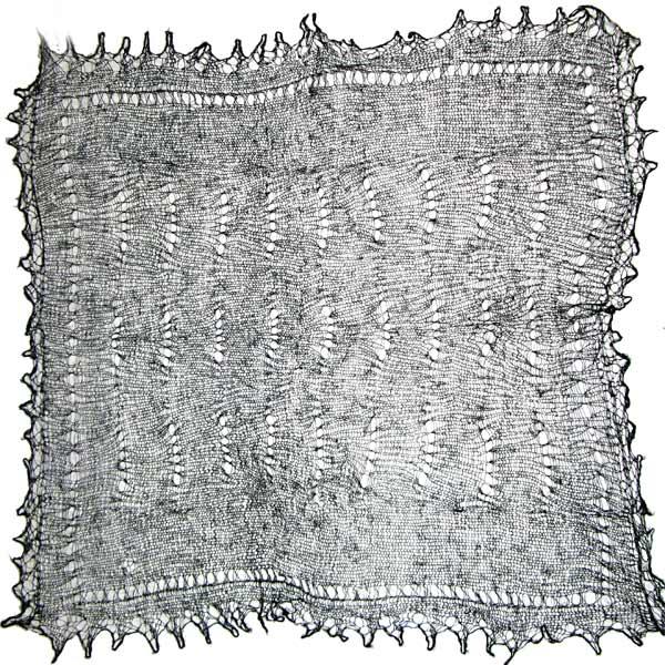 Black color Orenburg shawl