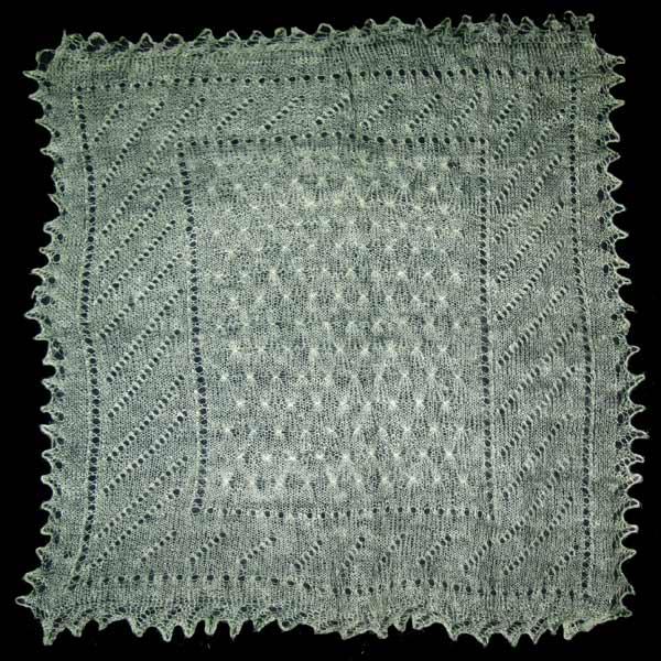 Pale green Orenburg shawl