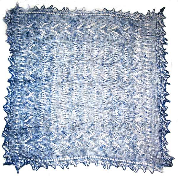 Dark blue  Orenburg shawl