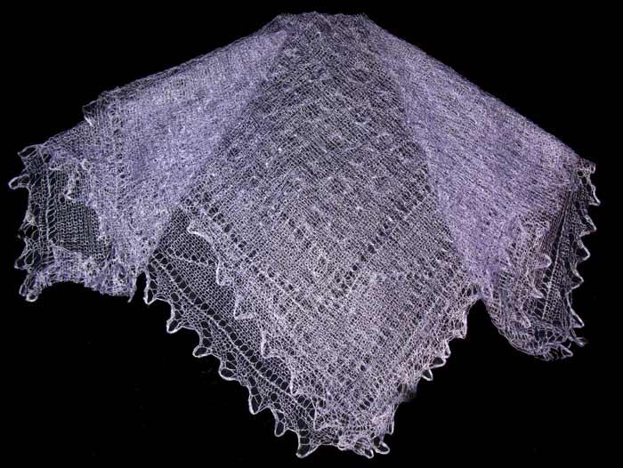 Pale violet Orenburg shawl