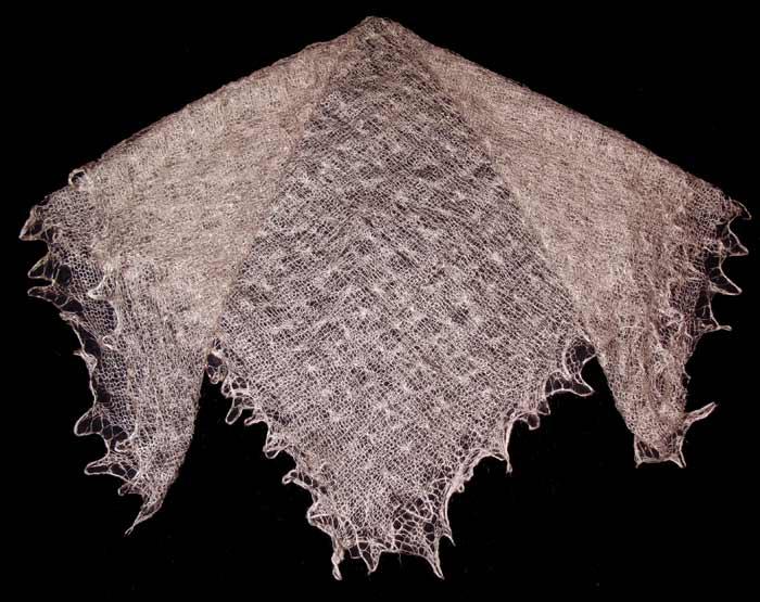 Beige Orenburg shawl