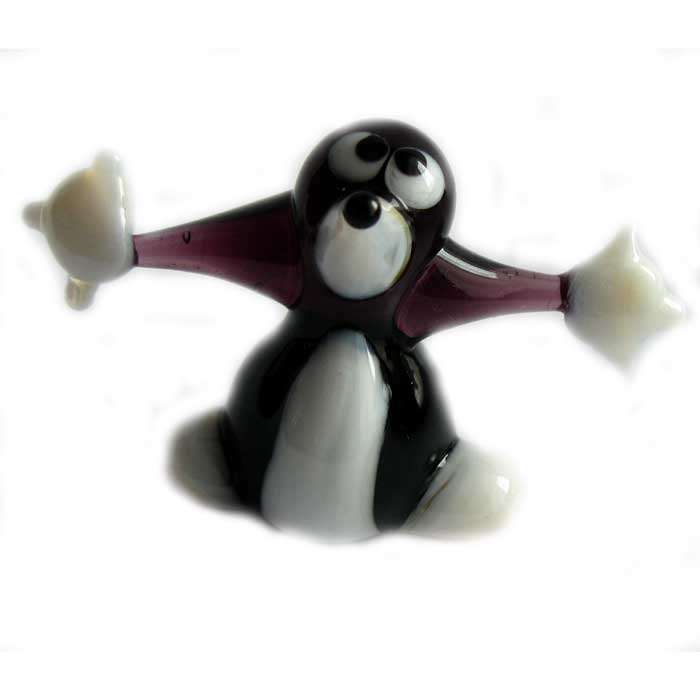 Mole glass figurine