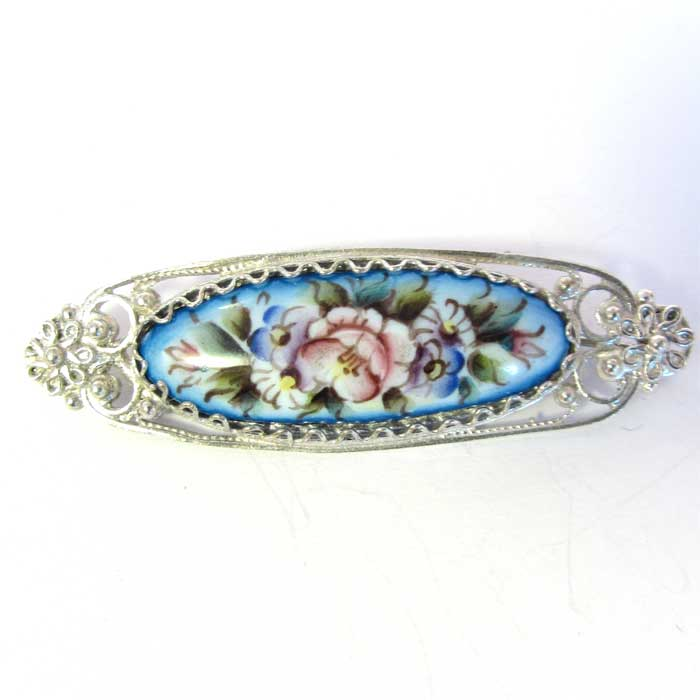 Enamel brooch