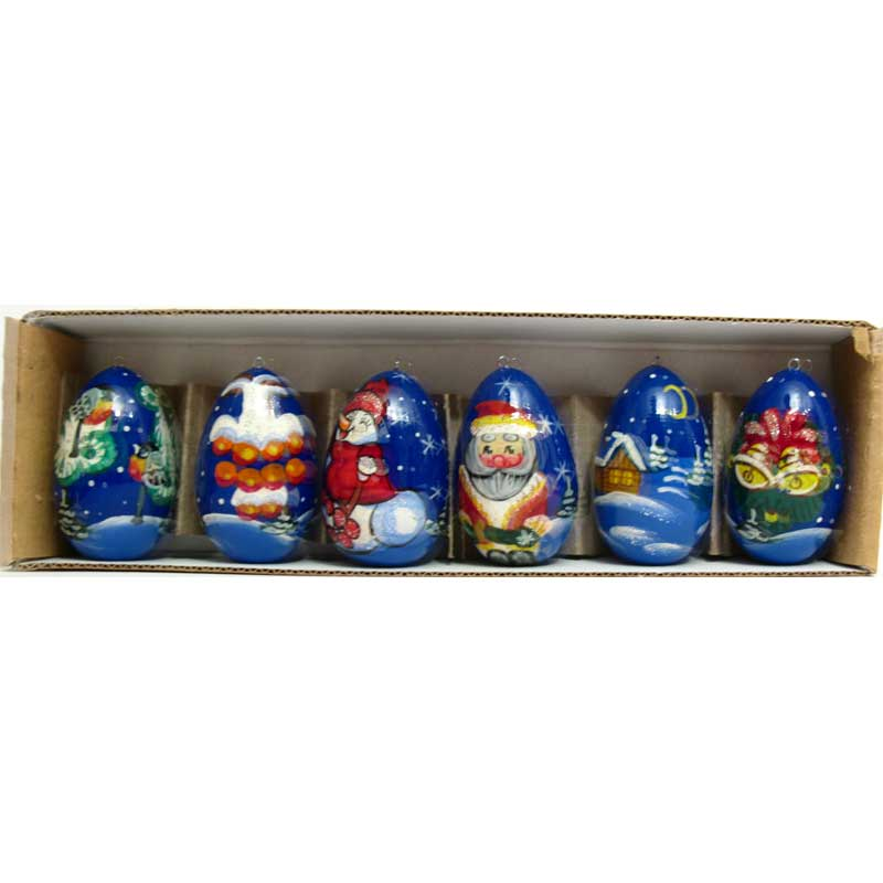 Christmas ornaments Russian winter
