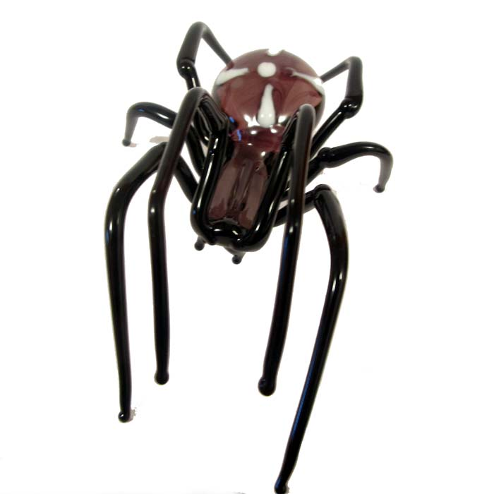 Glass Spider Figurine