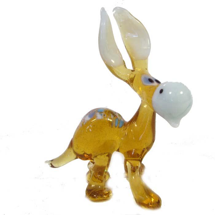 Donkey Glass Figurine