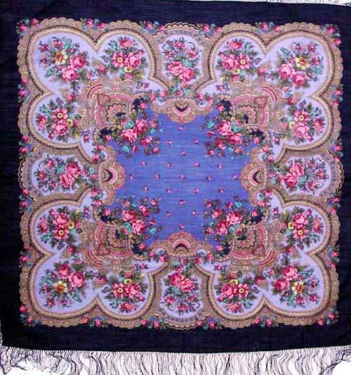 Russian woolen shawl