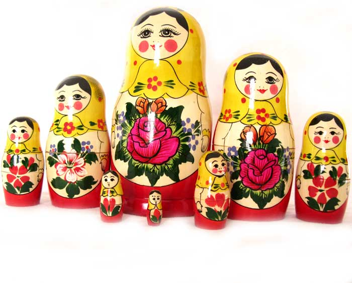 Nested Doll Alionka 8 pieces set, fig. 1