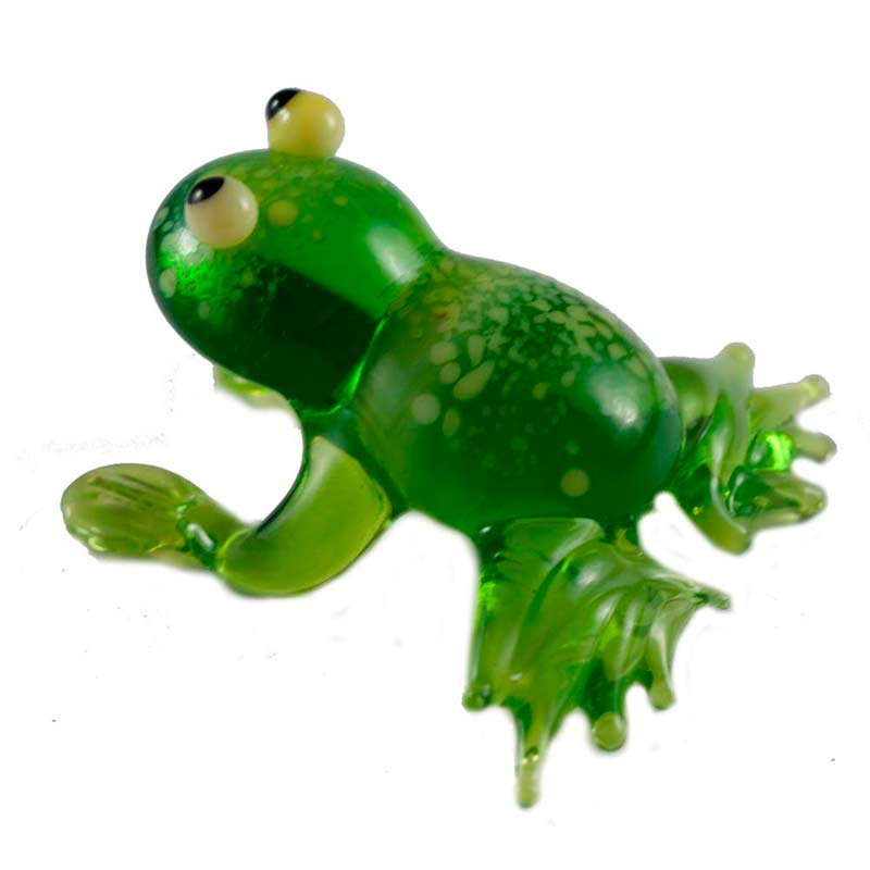 Frog  glass figurine