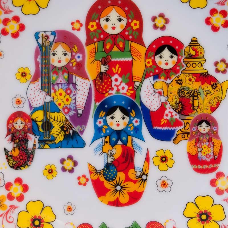 Porcelain Plates Matryoshka Doll