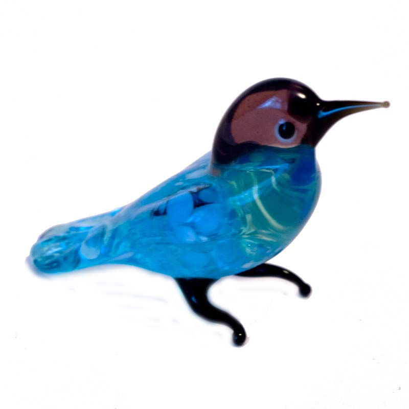 Glass Wild Pigeon Figure