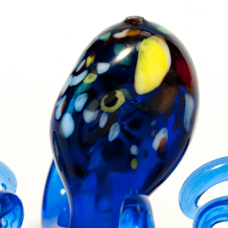 Blue Octopus Glass  Figurine
