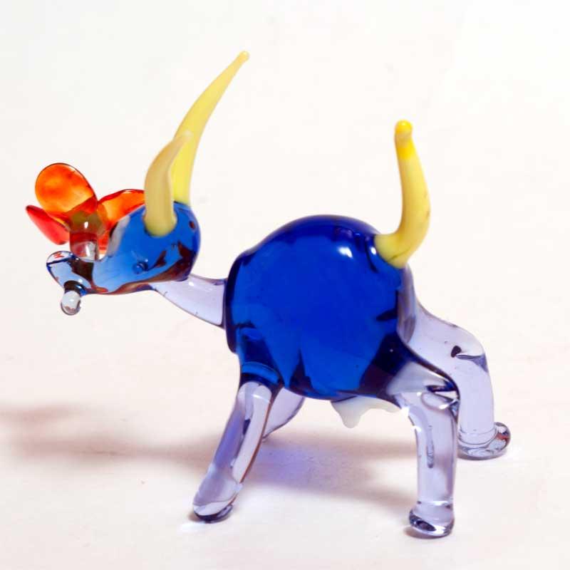 Glass Goat Figurine