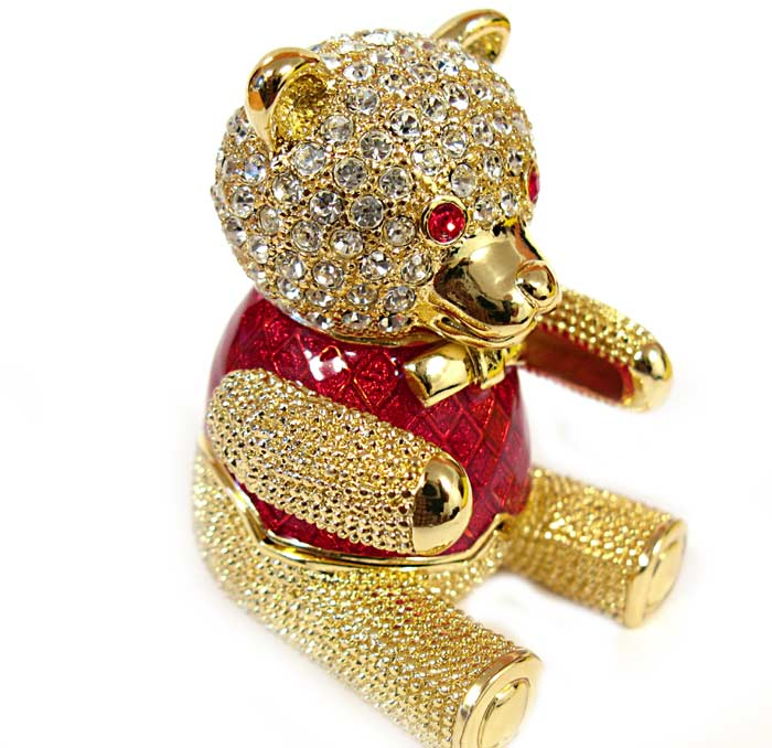"Faberge box ""Teddy bear"""
