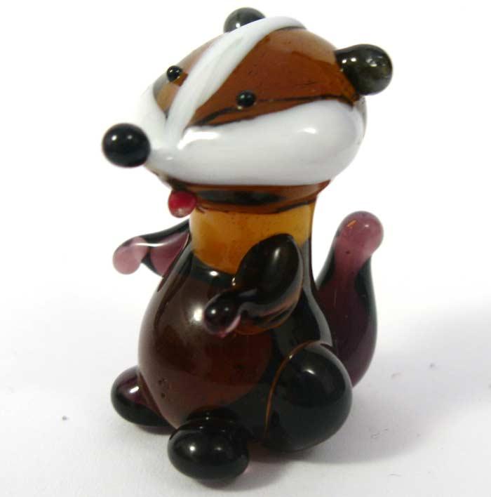 Glass Hamster Figurine