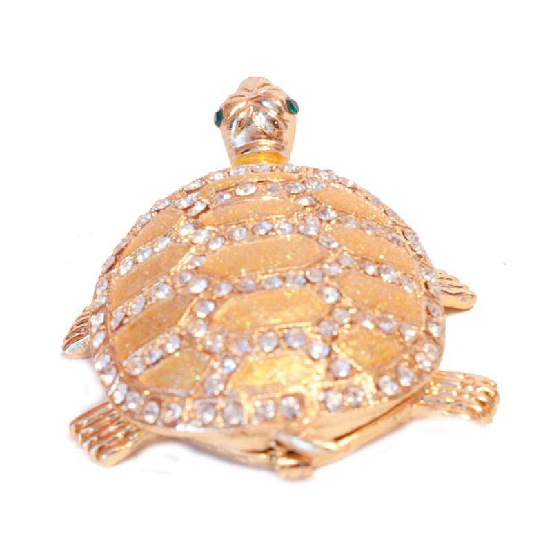 Faberge Box Gold Turtle