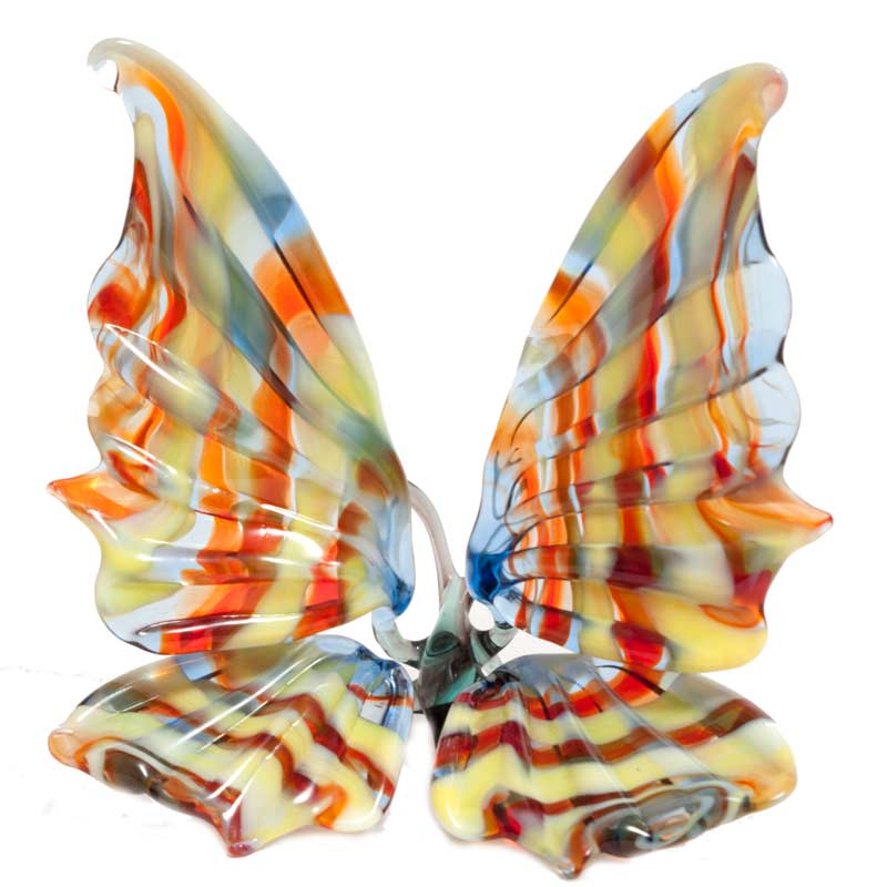Glass Butterfly Figurine  Blue